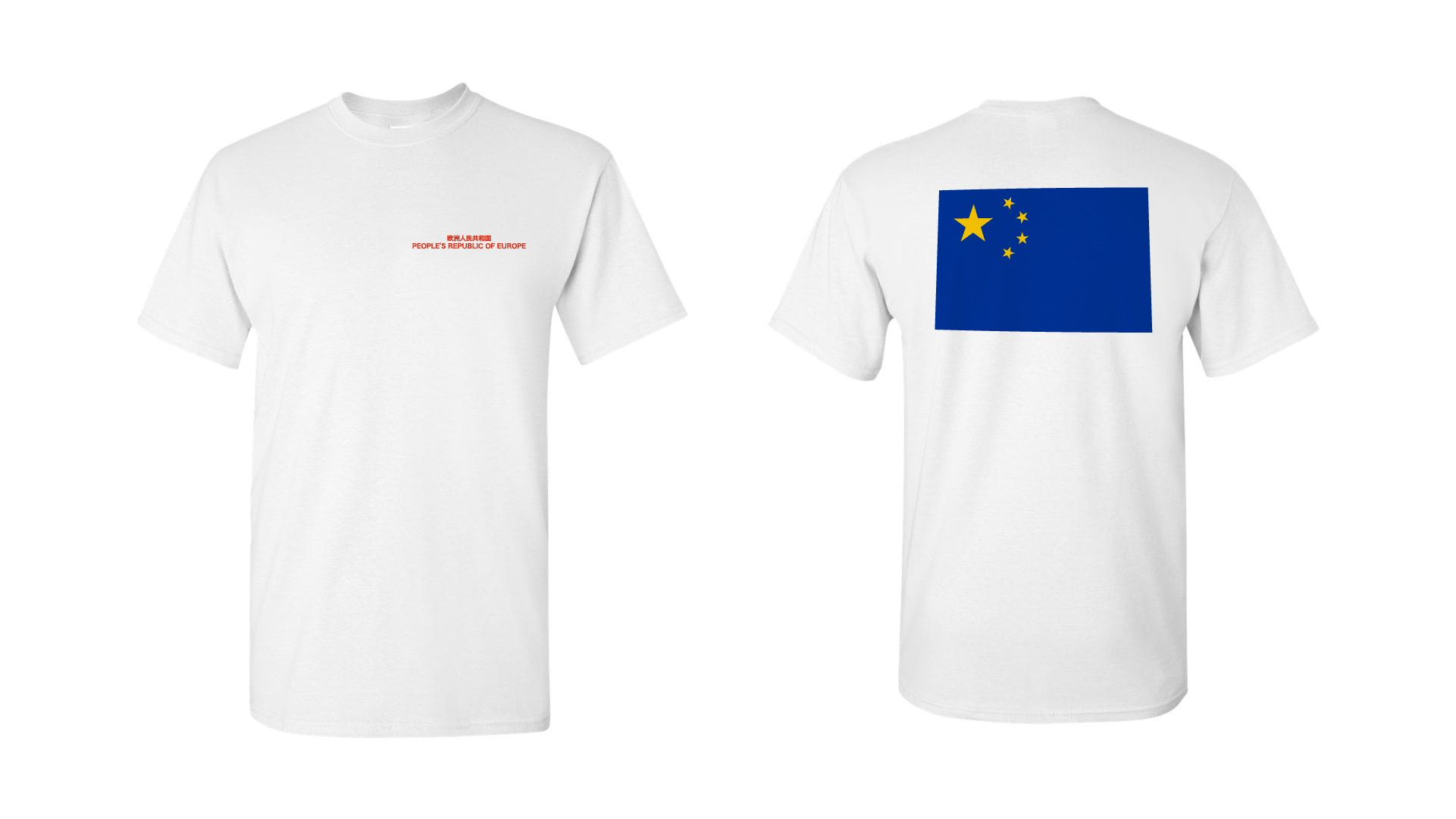 T-shirt Blue Flag